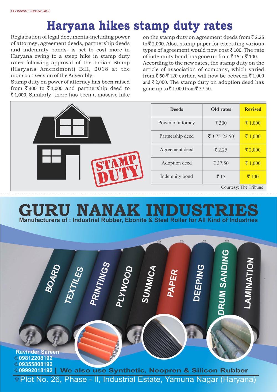 Haryana Hike Stamp Duty rates