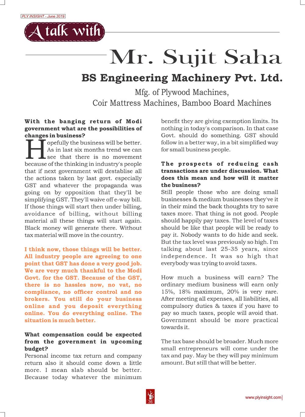 Mr. Sujit Saha