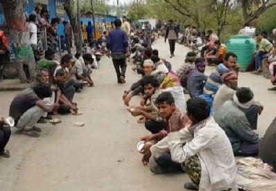 लाॅकडाउन में मजदूरों की लाचारी झलकी