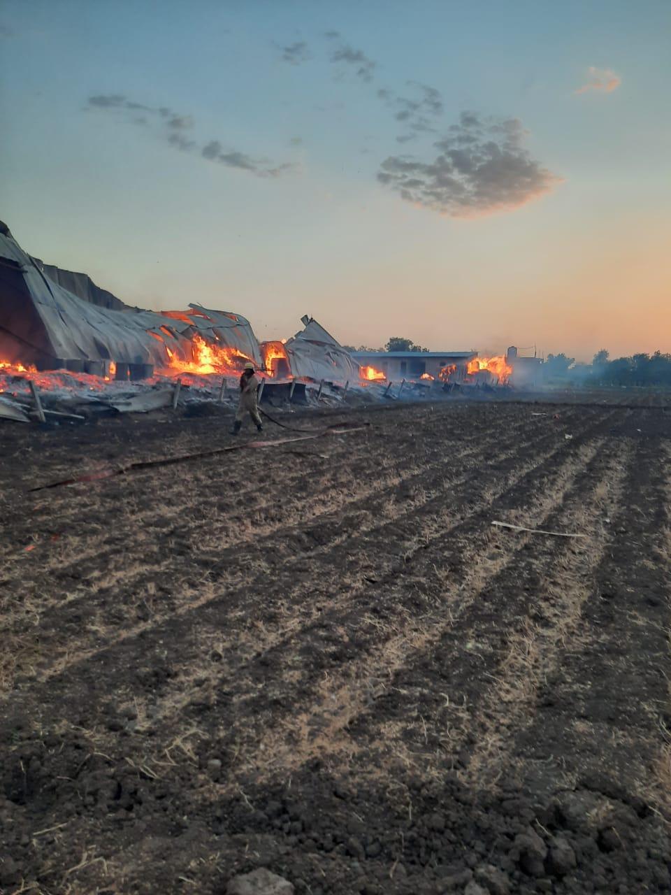 fire in madhav industry